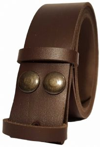 35mm Chocolate Snap Fit Leather Belt